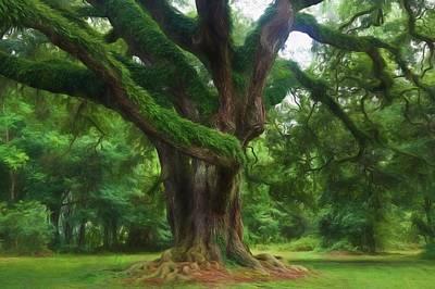 Fantasy Oak Print by Richard Rizzo