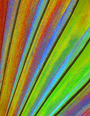 Fantasy Palm Leaf Abstract 3 Print by Margaret Saheed