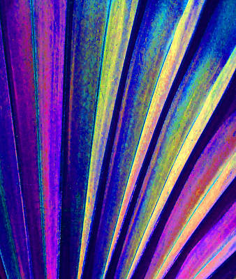 Fantasy Palm Leaf Abstract 4 Print by Margaret Saheed