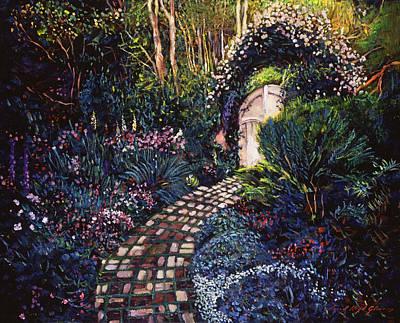 Garden Gates Painting - Fantasy Path by David Lloyd Glover