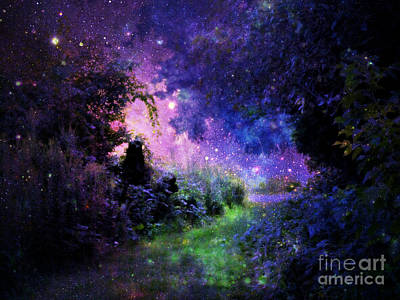 Flower Pink Fairy Child Digital Art - Fantasy Path by Johari Smith