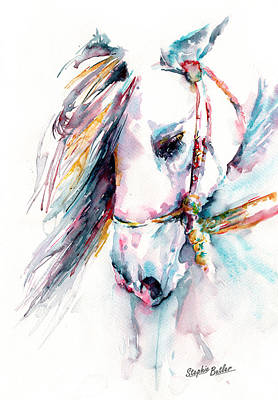 Watercolor Painting - Fantasy by Stephie Butler
