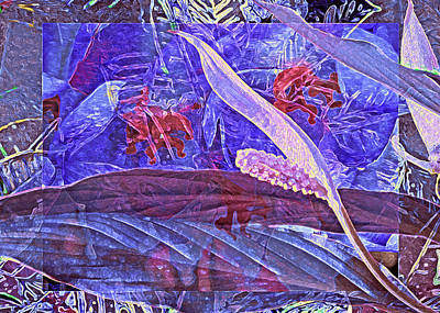 Gestures. Gestural Movements Digital Art - Fantasy With African Violets And Peace Lily 46 by Lynda Lehmann