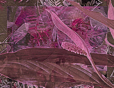 Gestures. Gestural Movements Digital Art - Fantasy With African Violets And Peace Lily 7 by Lynda Lehmann