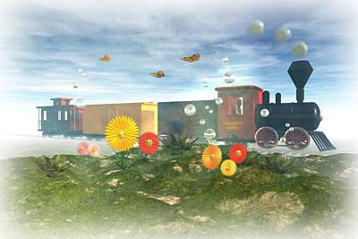 Fantasyland Express Print by Carol and Mike Werner