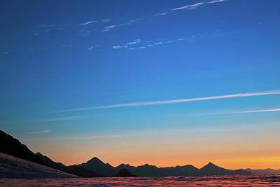 Far Mountains Print by Konstantin Dikovsky