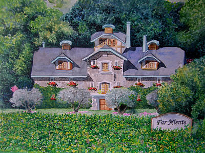 Far Niente Winery Print by Gail Chandler