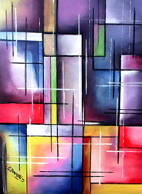 Farbenspiel Print by Eva Borowski