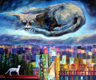 Thunder Painting - Fare Thee Well by Elisheva Nesis