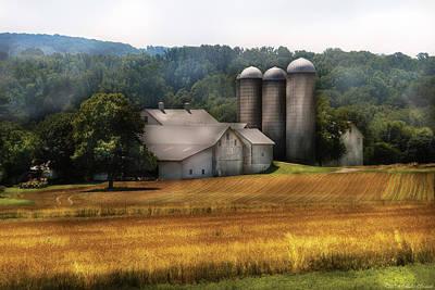Barns Photograph - Farm - Barn - Home On The Range by Mike Savad