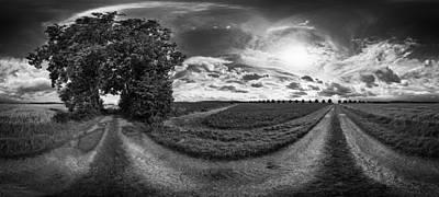 Blend Photograph - Farm At Dusk by Mountain Dreams