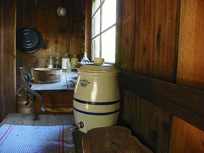 Water Jars Photograph - Farm Cook House I by Sheri McLeroy