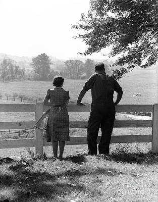 Contemplative Photograph - Farm Couple, C.1940s by H. Armstrong Roberts/ClassicStock