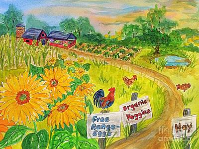 Farm Stand Painting - Farm Fresh  by Ellen Levinson