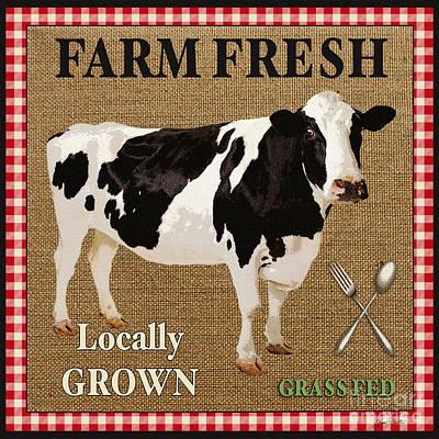 Farm Fresh-jp2381 Print by Jean Plout