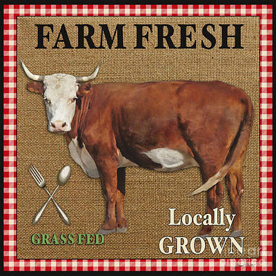 Farm Fresh-jp2383 Print by Jean Plout
