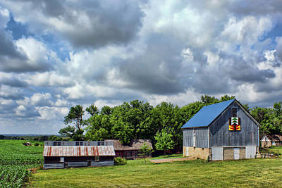 Farm Scene - Barns - Nebraska Print by Nikolyn McDonald