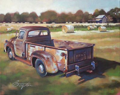 Farm Fields Painting - Farm Truck by Todd Baxter