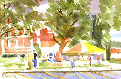 Cloudy Day Painting - Farmers Market Ironton Missouri by Kip DeVore