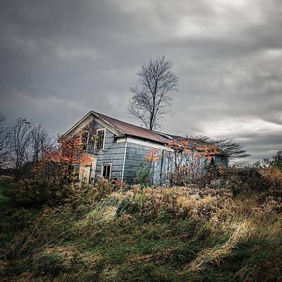 Farm Photograph - Farmhouse Memories - Homestead by Chris Bordeleau