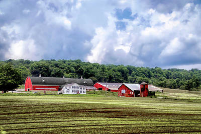 Farming Finger Lakes New York 03 Print by Thomas Woolworth