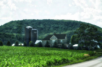 Farming Finger Lakes New York 09 Print by Thomas Woolworth