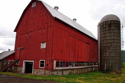 Shed Mixed Media - Farming Red Barn Finger Lakes New York by Thomas Woolworth