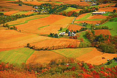 Farms Can Be Seen From Pa At Print by Raymond Salani III