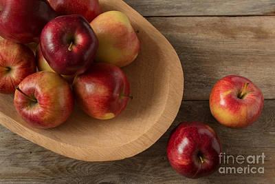 Farmtable Apples Print by Ana V  Ramirez