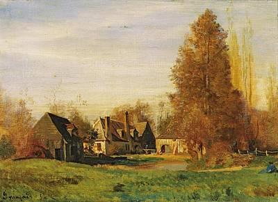 Nature Study Painting - Farmyard by Francois Louis Francais