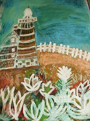 Faro Un Poquito Torcida Con Valla Original by Anne-Elizabeth Whiteway