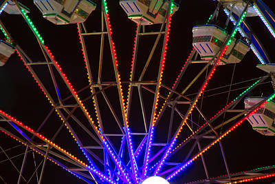 Carnival Victory Photograph - Farris Wheel Close-up by James BO  Insogna