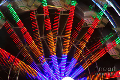 Carnival Victory Photograph - Farris Wheel In Motion by James BO  Insogna