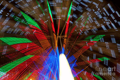 Carnival Victory Photograph - Farris Wheel Light Abstract by James BO  Insogna