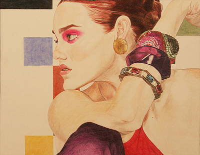 Fashion Model Print by Michelle Miron-Rebbe
