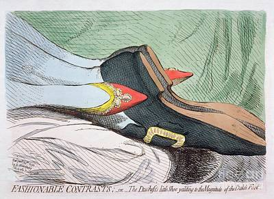 Satire Painting - Fashionable Contrasts by James Gillray