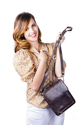 Leather Purses Photograph - Fashionable Woman With Hand Bag by Jorgo Photography - Wall Art Gallery