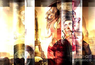 Paris Digital Art - Fashionista by John Rizzuto
