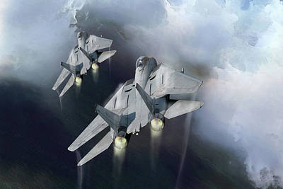 F-14 Digital Art - Fast Cats by Peter Chilelli