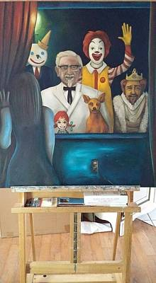 Ronald Mcdonald Painting - Fast Food Nightmare 4 by Leah Saulnier The Painting Maniac