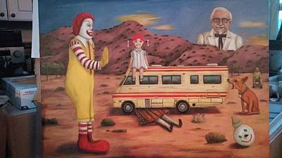 Ronald Mcdonald Painting - Fast Food Nightmare 5 Needs New Photo by Leah Saulnier The Painting Maniac