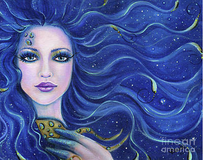 Mermaid Painting - Fatal Beauty Mermaid Art by Renee Lavoie