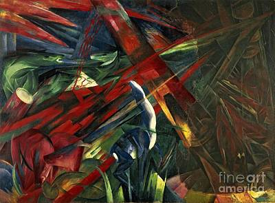 Fate Of The Animals Print by Franz Marc