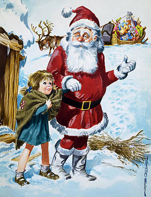 St. Nicholas Painting - Father Christmas by Jose Ortiz