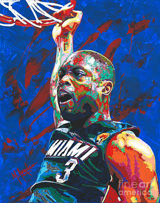 Shooting Guard Painting - Father Prime by Maria Arango