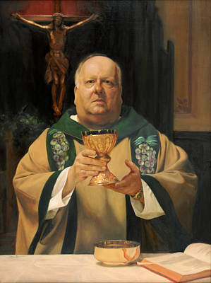 Fathers Painting - Father Tom Butler by Anna Rose Bain