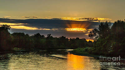 Father's Day Sunset Print by Robert Bales