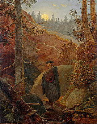 Carl Gustav Carus Painting - Faust In The Mountains by Carl Gustav Carus