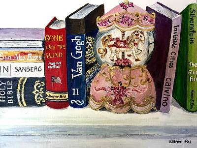 Pai Painting - Favorite Books by Esther Pai