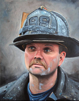 Bronx Painting - Fdny Lieutenant by Paul Walsh